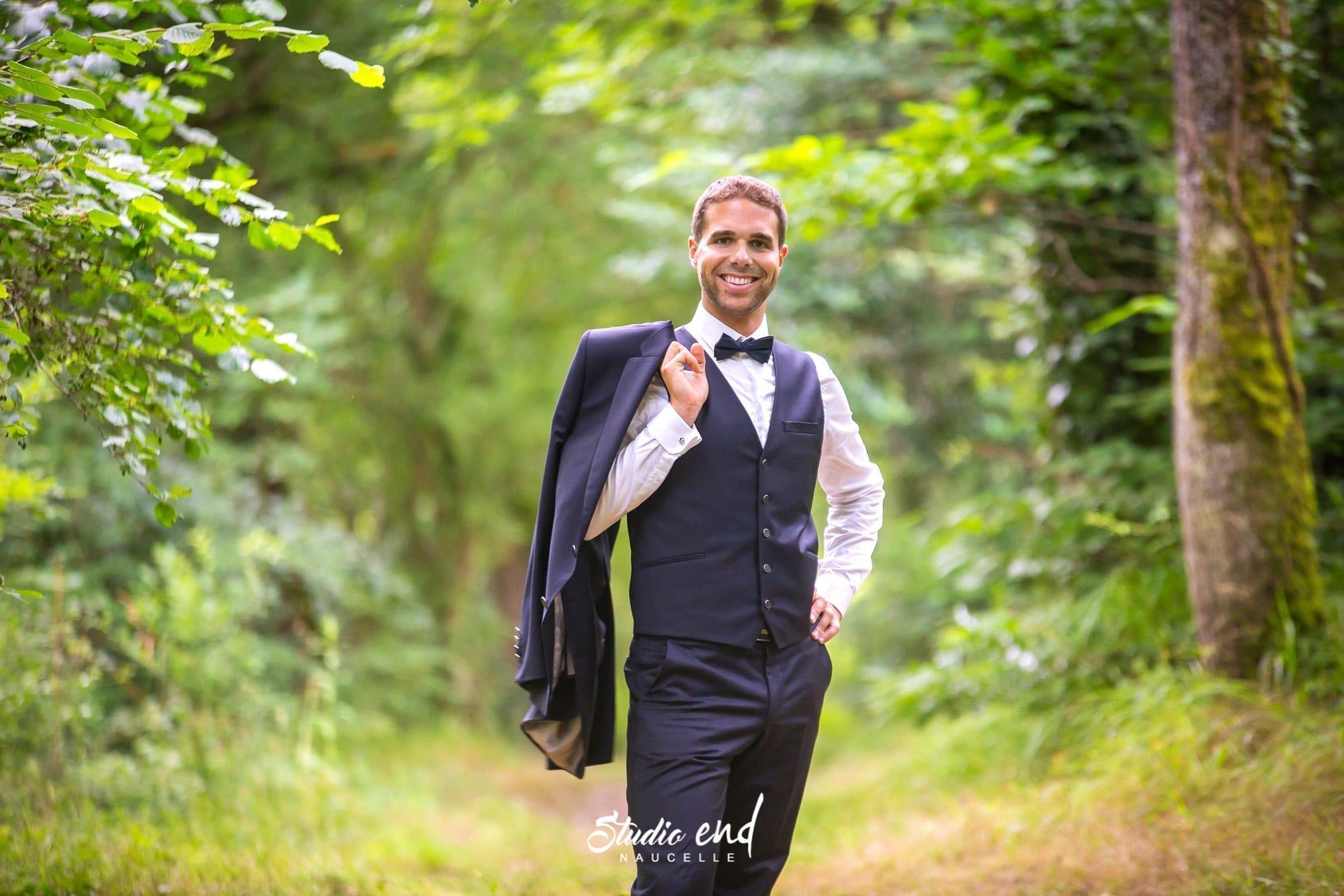Photo de mariage en Aveyron Photo du marié