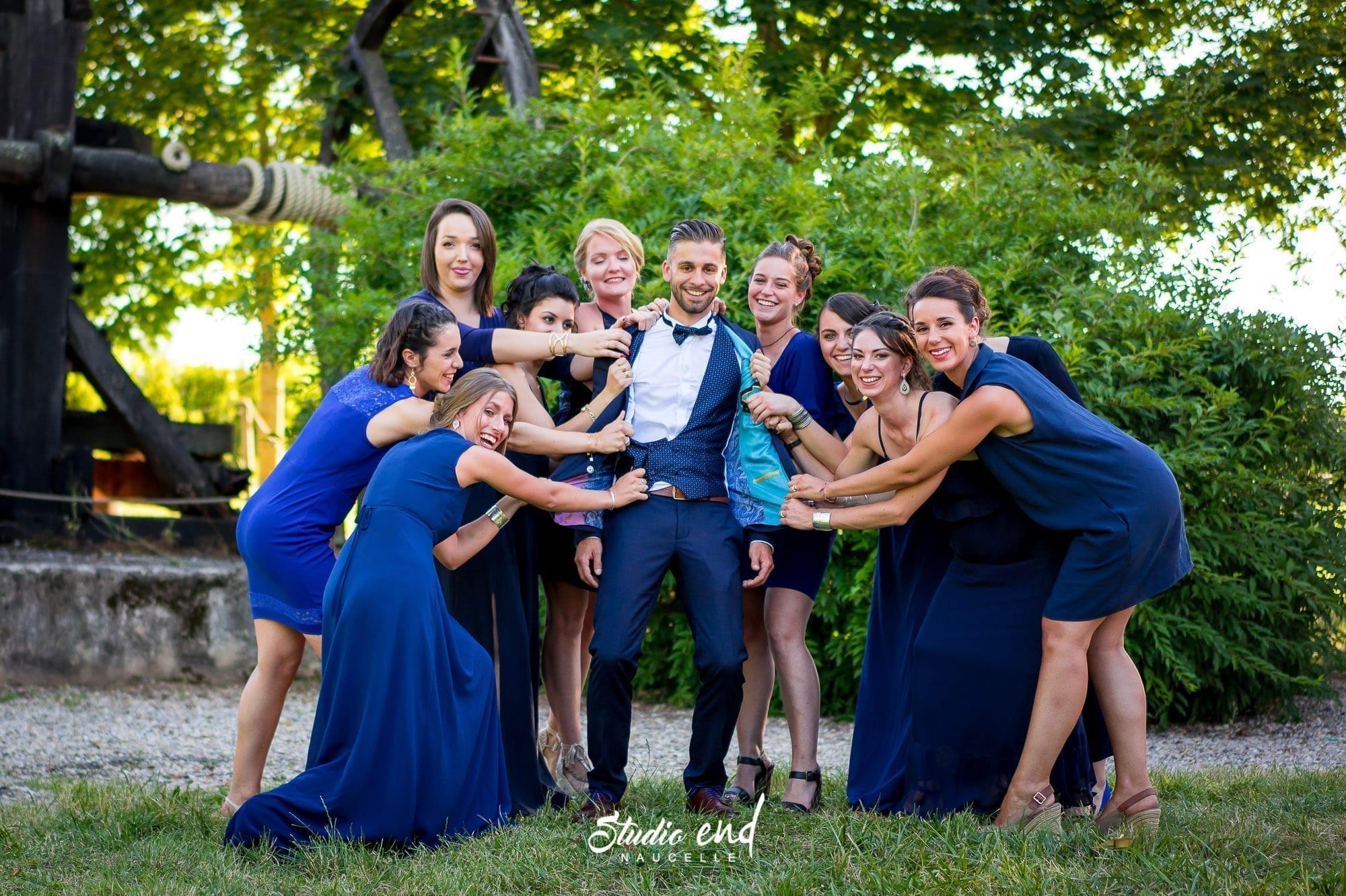 Photo de mariage Reportage mariage Photo de groupe Studio End Naucelle Occitanie