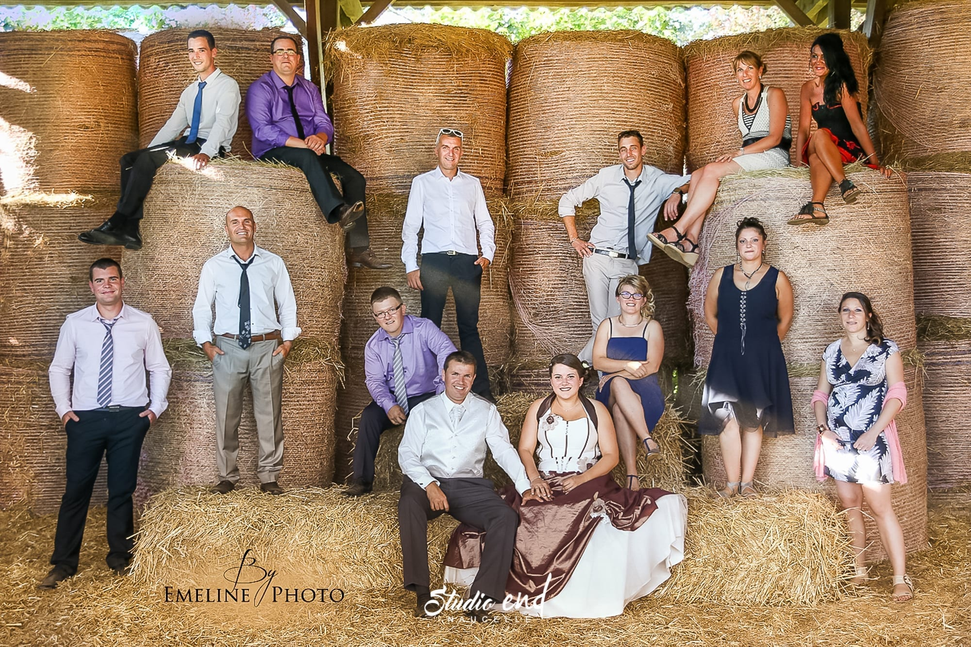 Photographie originale de témoins d'un mariage en Aveyron