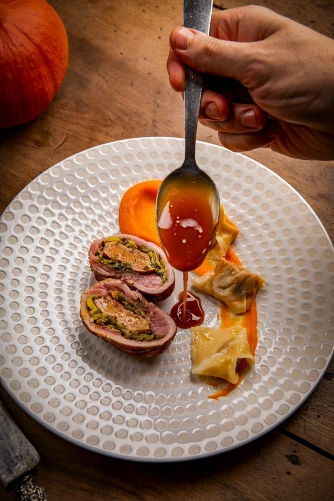 Photographie culinaire de plat de chef étoilé