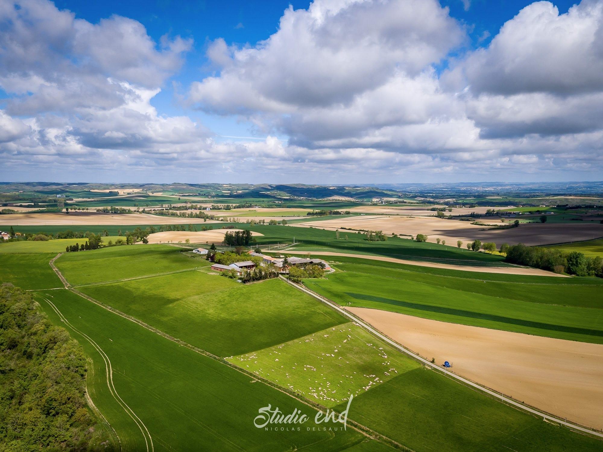 prise de vue drone sur nature de l'Aude, photographe