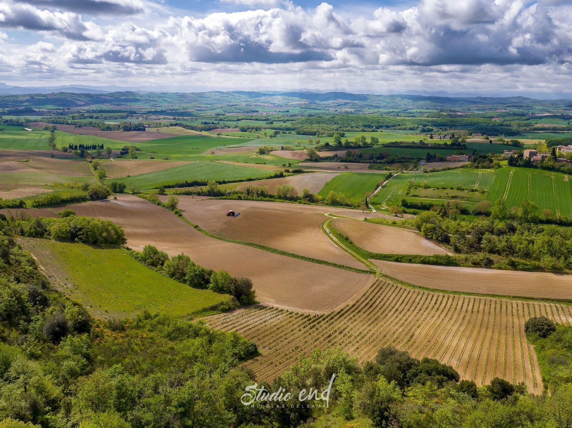 Photographie drone paysage de l'Aude