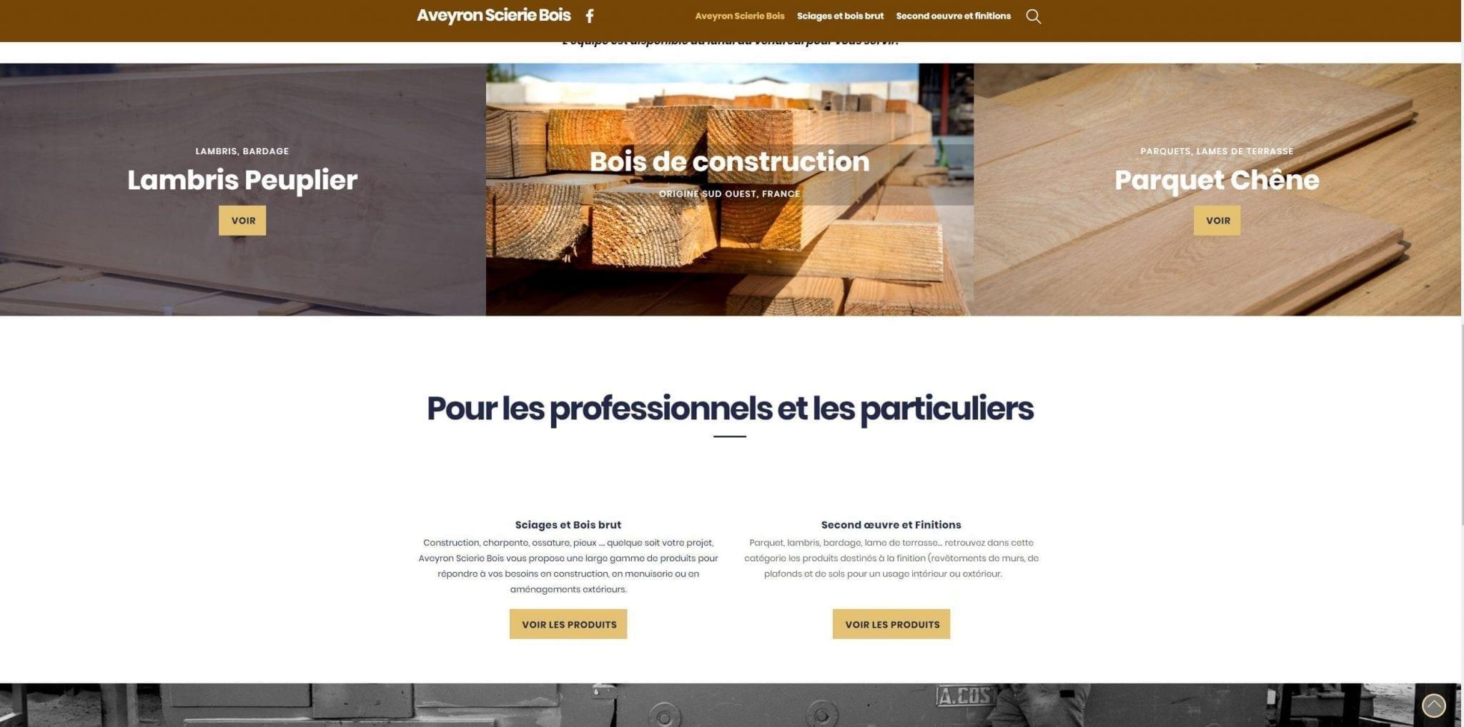 exemple de catalogue en ligne développé par le Studio END, créateur de site internet en Aveyron