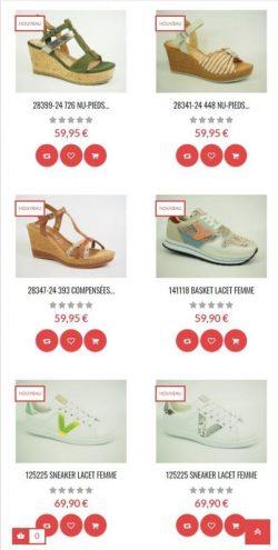 Boutique en ligne full responsive pour Cuq chausseur à Millau, Villefranche de Rouergue et Albi