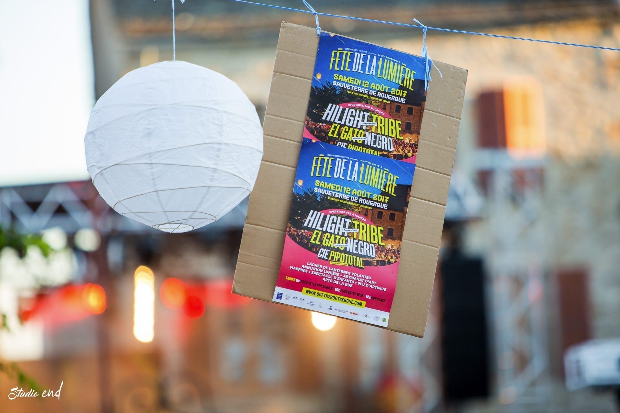 Affiche fête de la lumière à Sauveterre de Rouergue