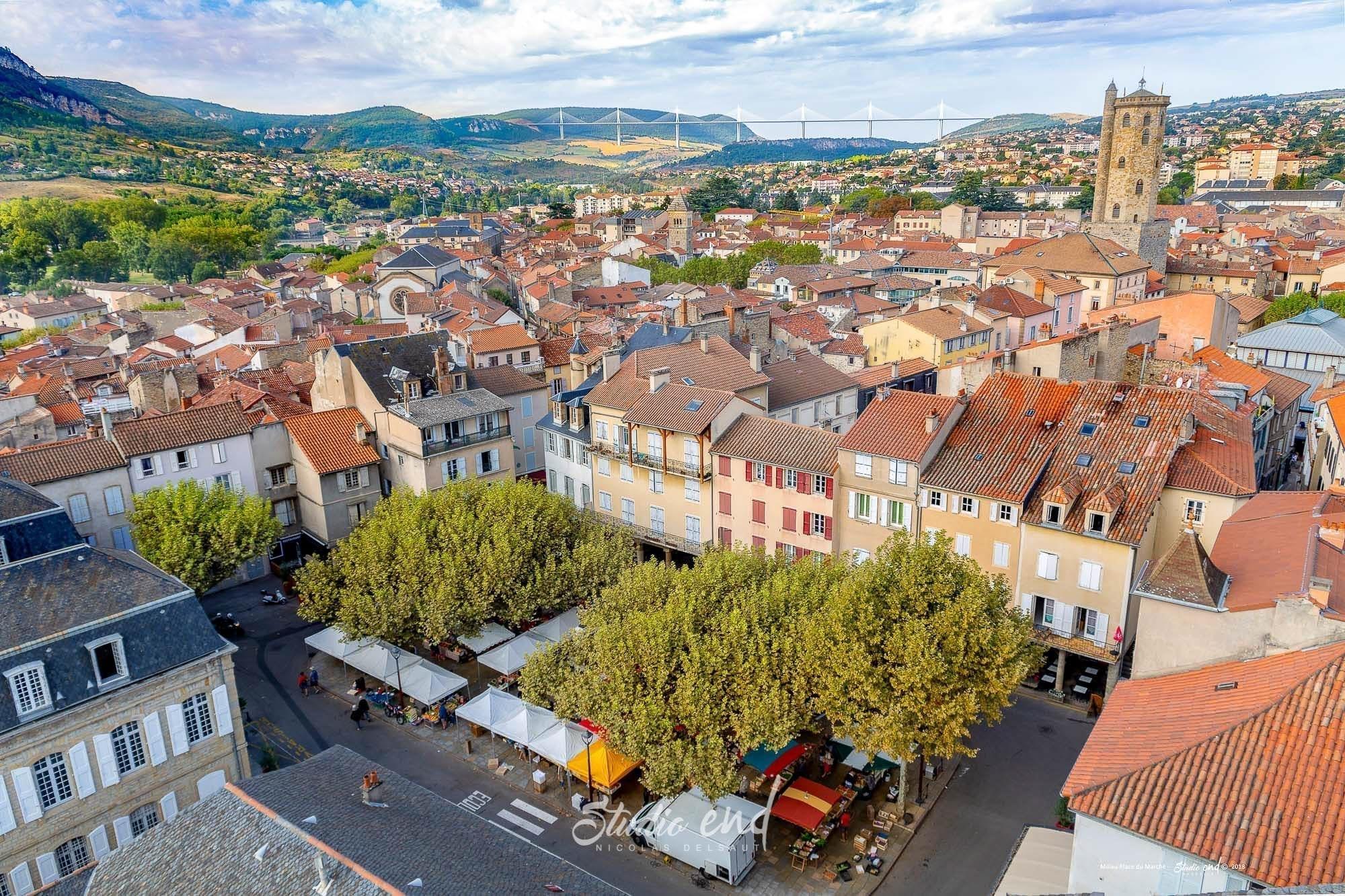 Photo de Millau, place du marché