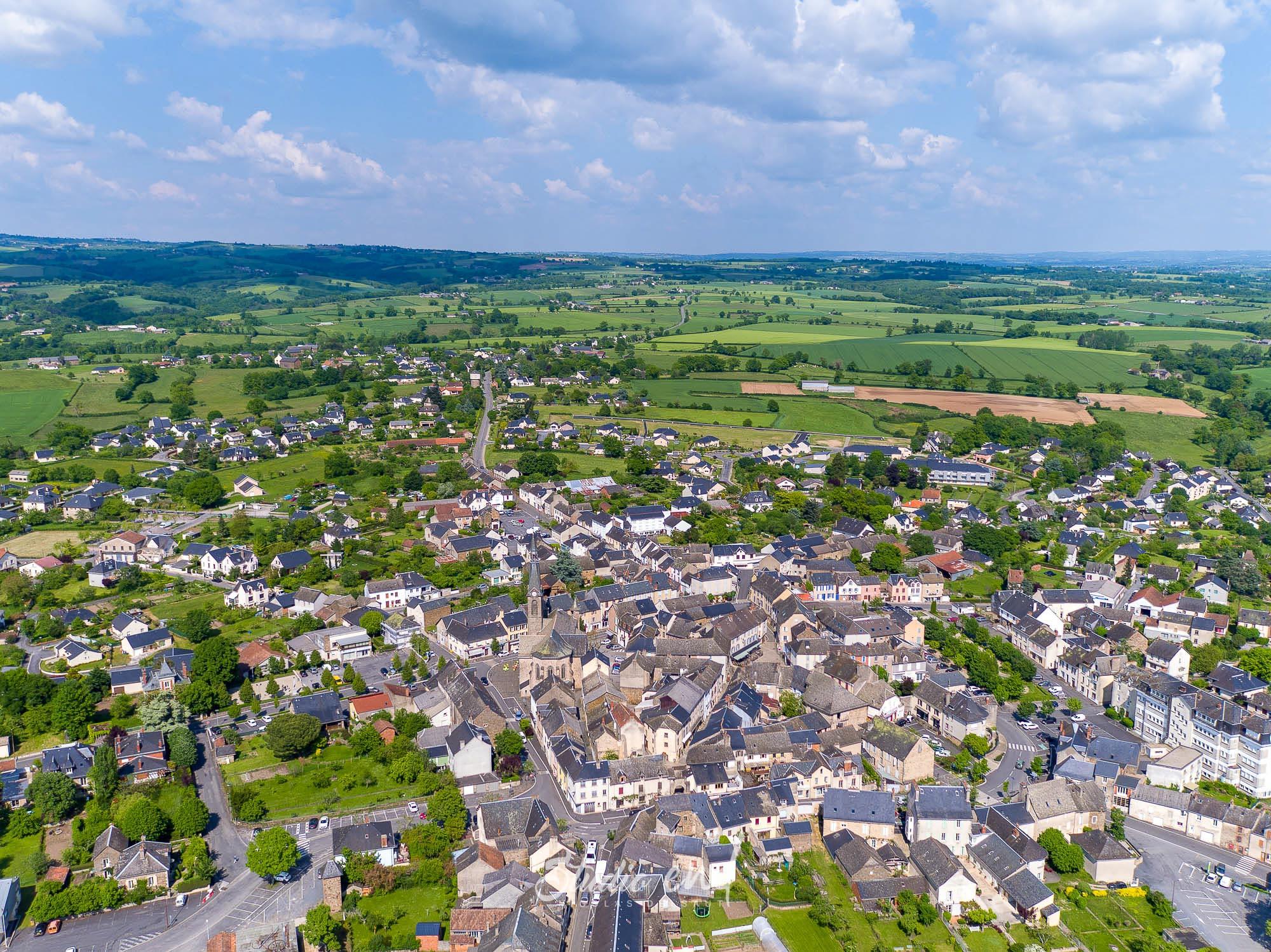Vue drone de Naucelle, photographie Aérienne