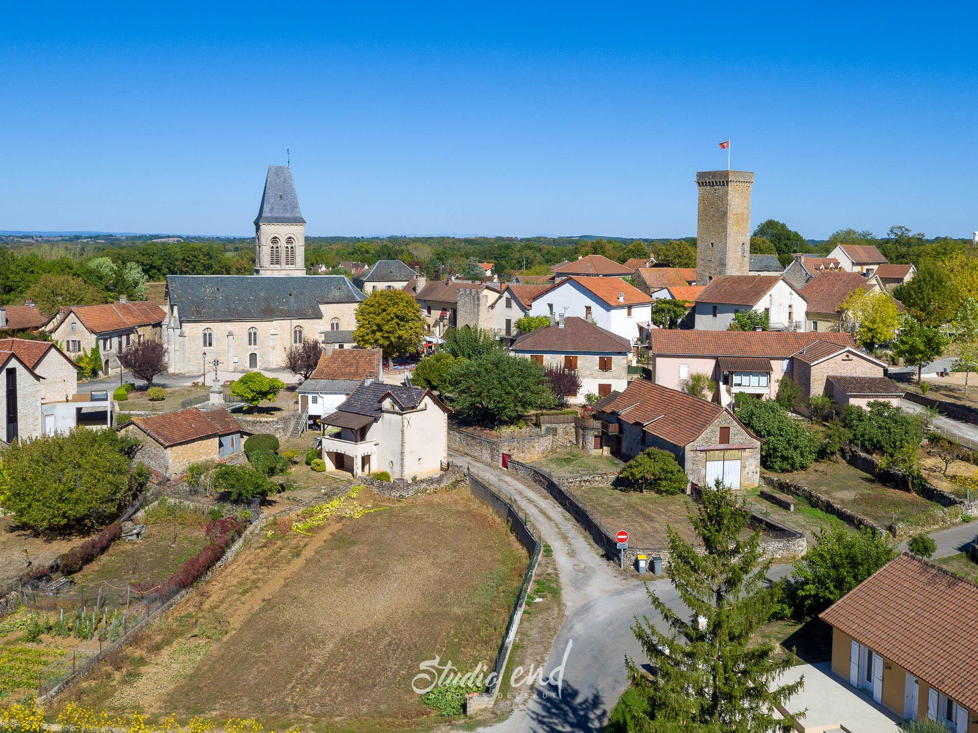 Photographie aérienne grace à un drone Naucelle Studio End