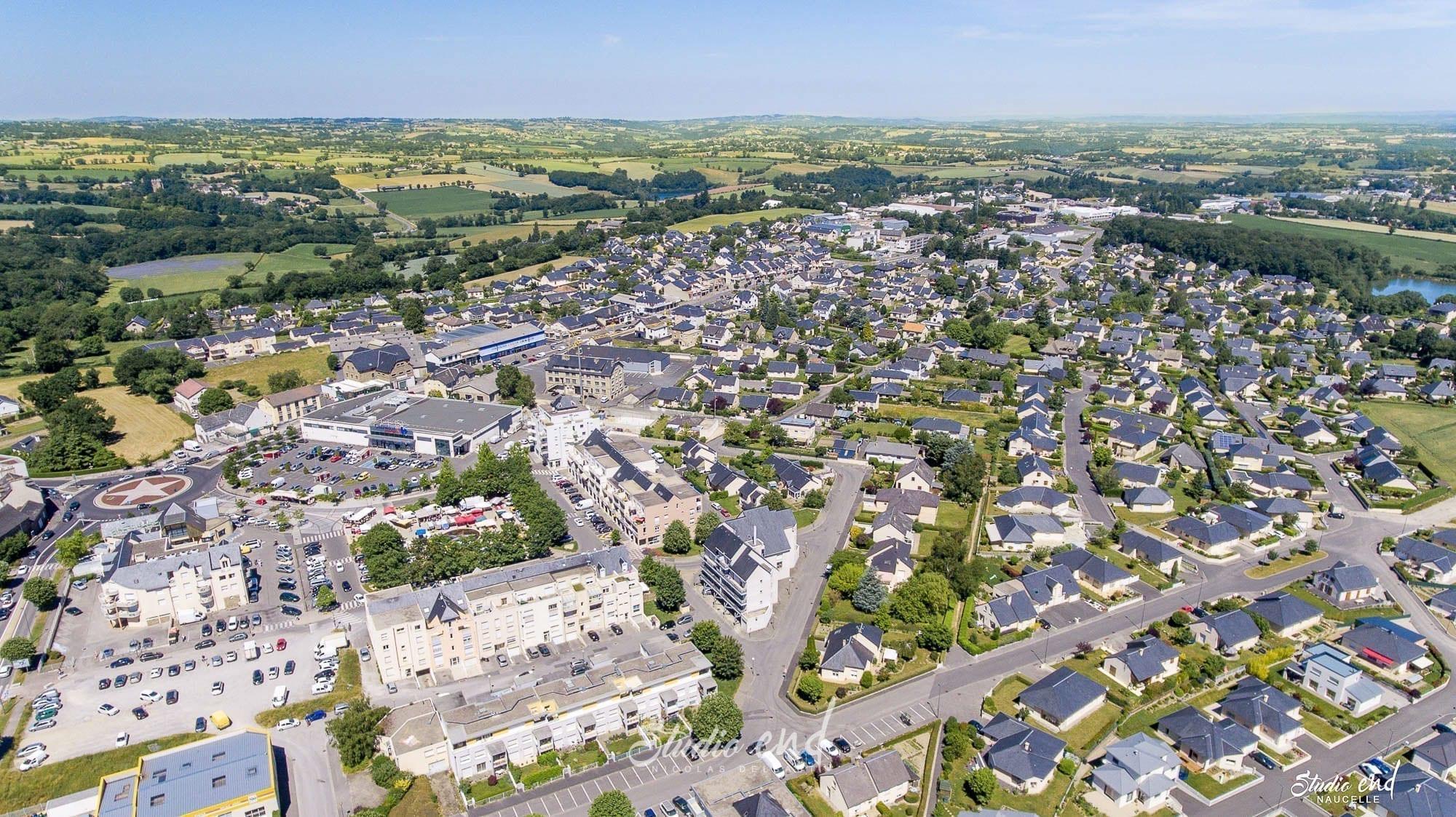 Photographie aérienne grace à un drone La Primaube Studio End