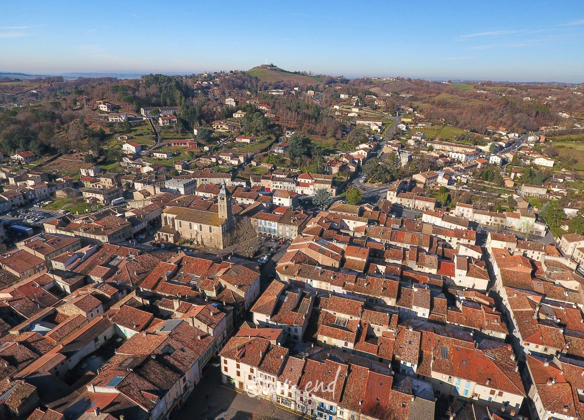 Photographie aérienne grace à un drone Réalmont Studio End
