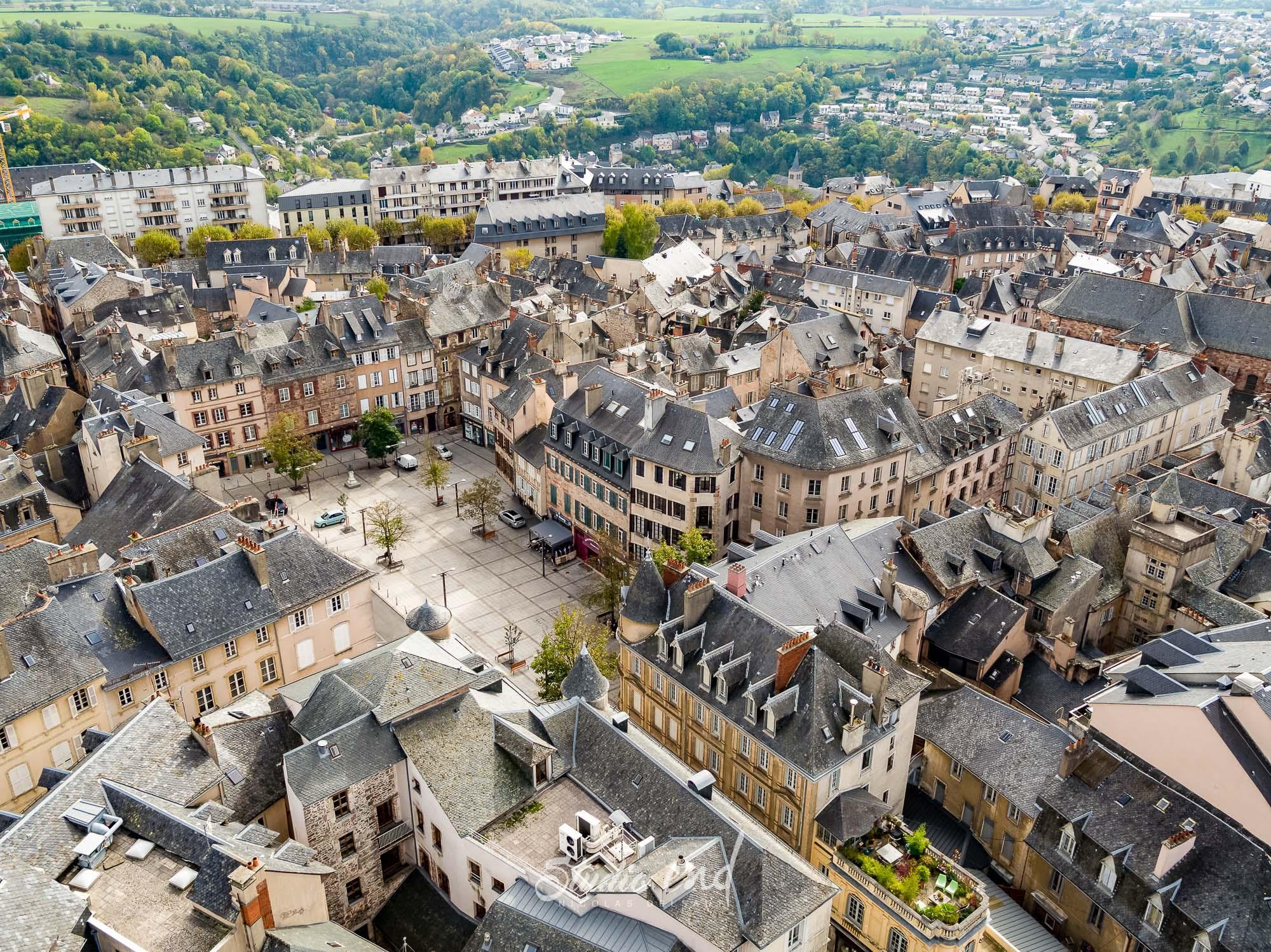 Photographie aérienne grace à un drone Rodez