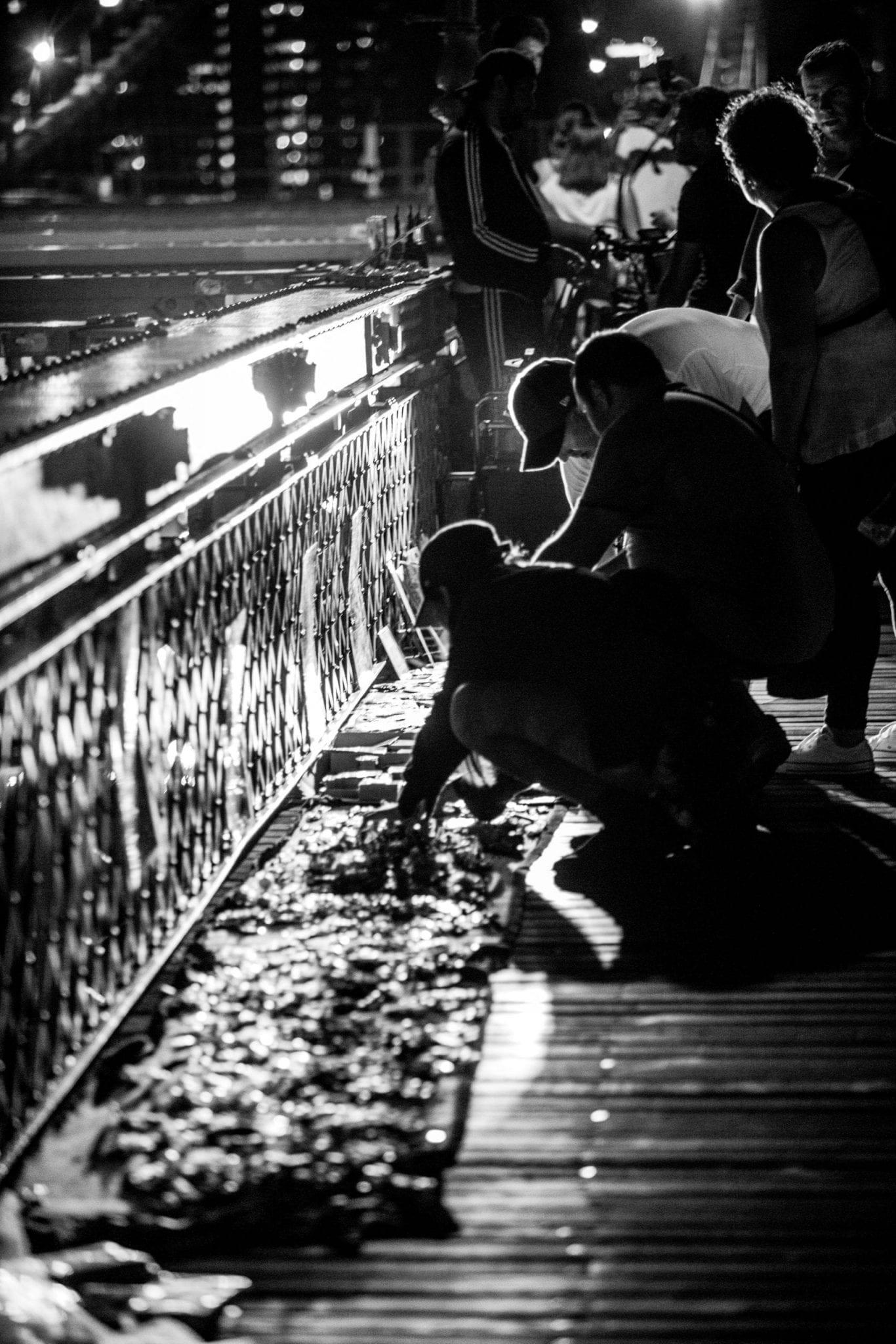 artiste pont de New York, photo et reportage de voyage Studio End