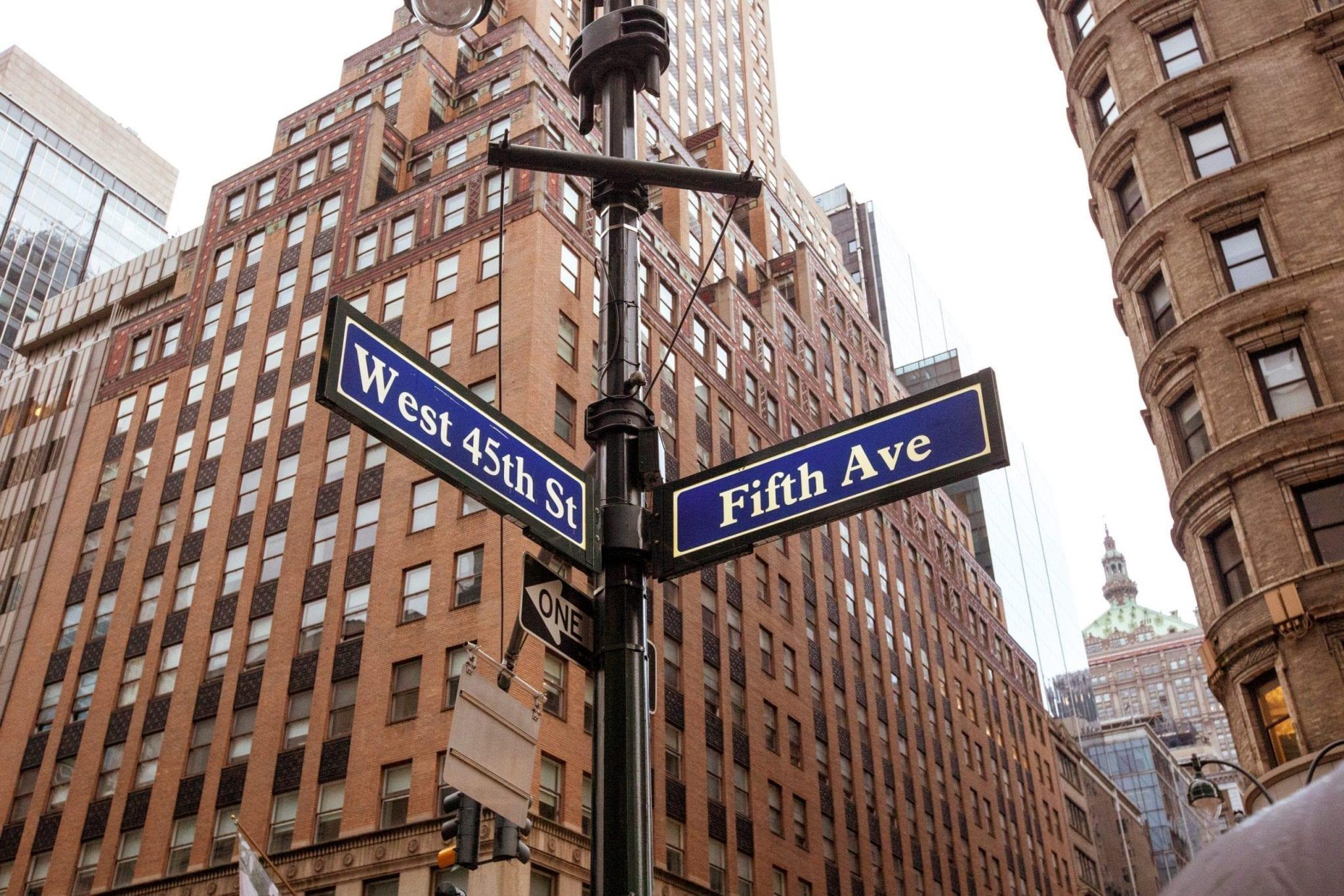 5e avenue New York, photo et reportage de voyage Studio End