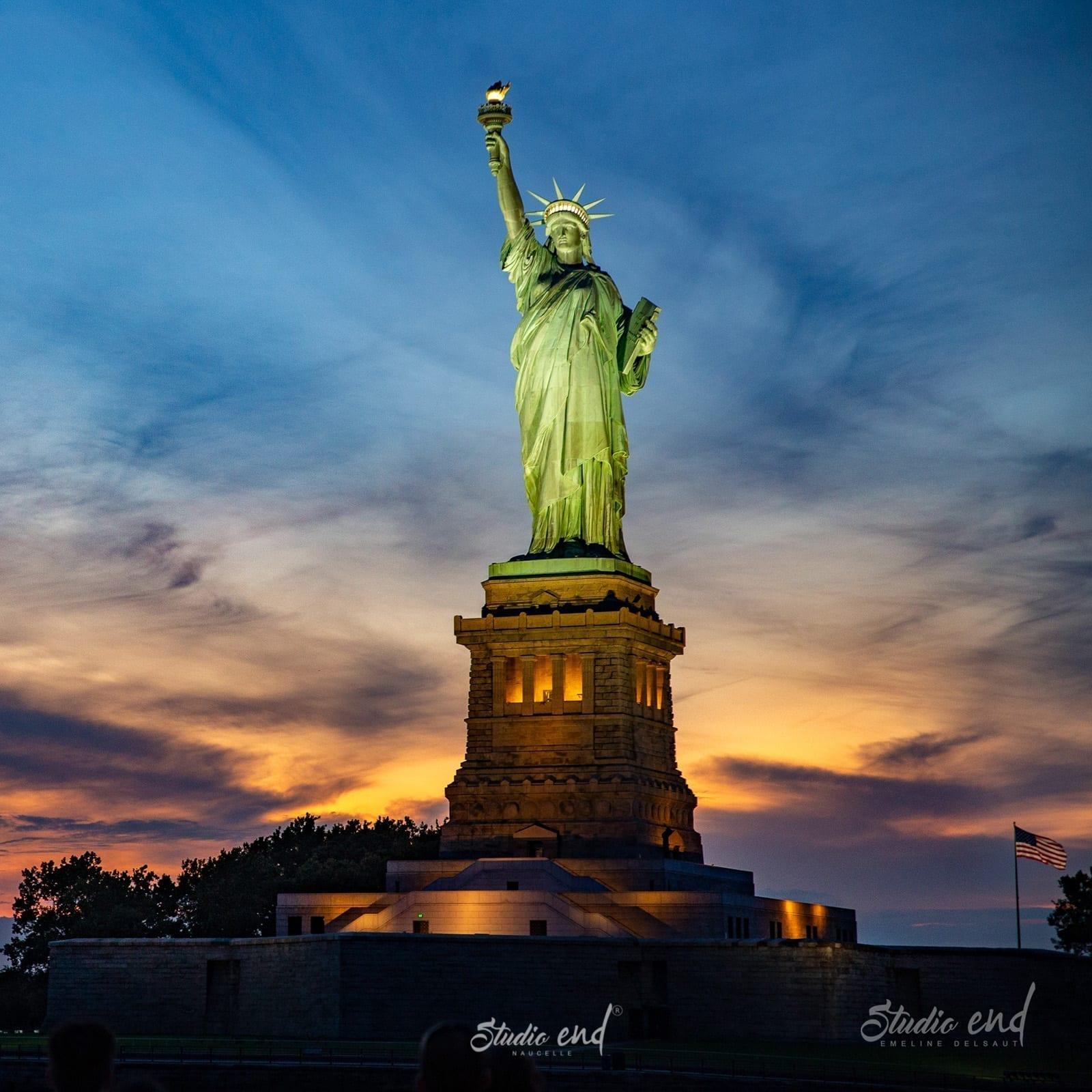 reportage photos à New-York, vue de la Statue de la liberté photographe Studio End Aveyron