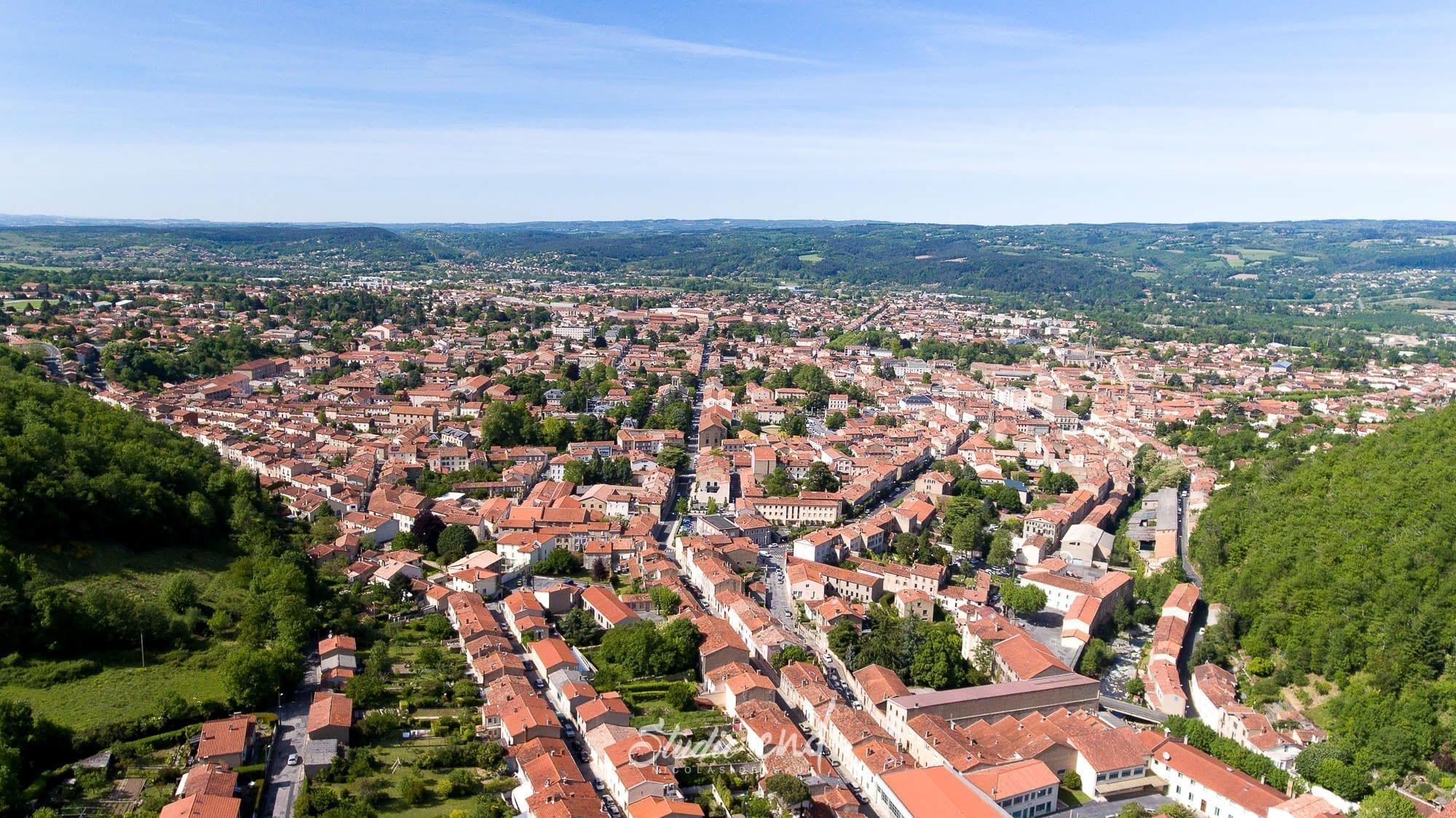 Photographie aérienne avec un drone Lescure d'Albigeois Studio End