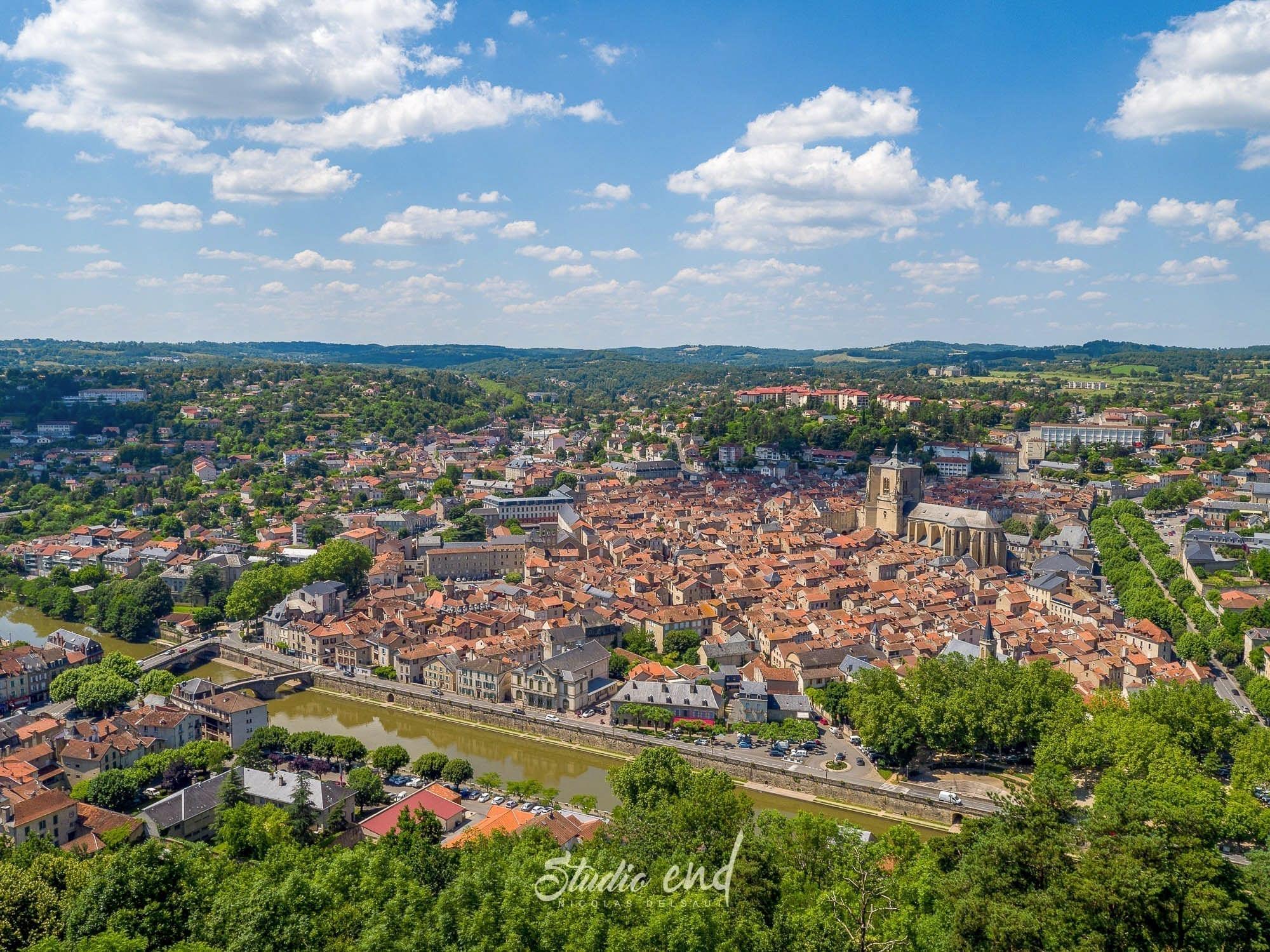 Photographie aérienne avec un drone Villefranche de Rouergue Studio End