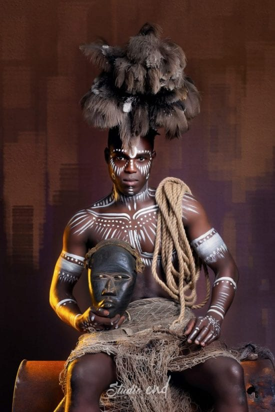 Projet artistique Afrikin, Emeline Delsaut, exposé aux Etats Unis portrait traditionnel