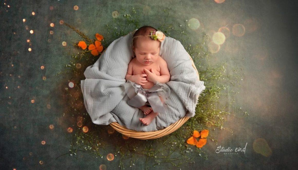 Photo de bébé, nourrisson fille, nouveau né mignonne artistique