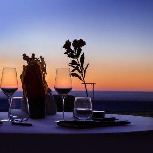 Couché de soleil au restaurant