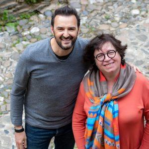 Les chefs Nicole Fagegaltier et Cyril Lignac