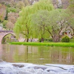 Vue de Belcastel en Aveyron