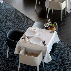 Salle du restaurant du chef Johan Thyriot